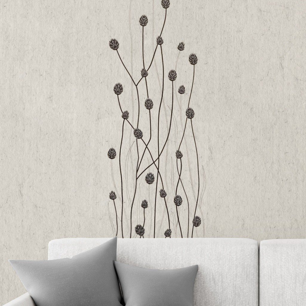 Design gras long dark gray