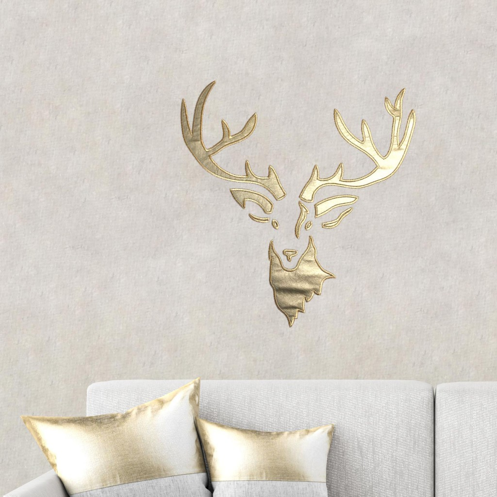Design stag gold/brown