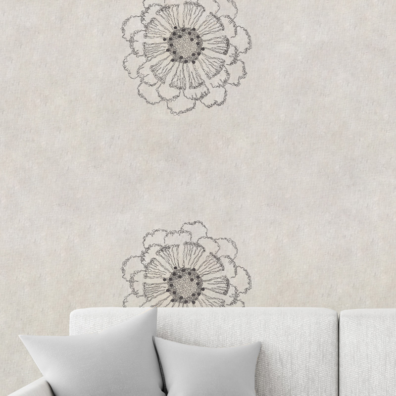 Design flower anthracite